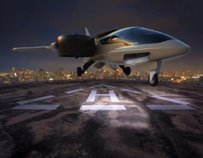 Rendering of XTI's TriFan 600 aircraft