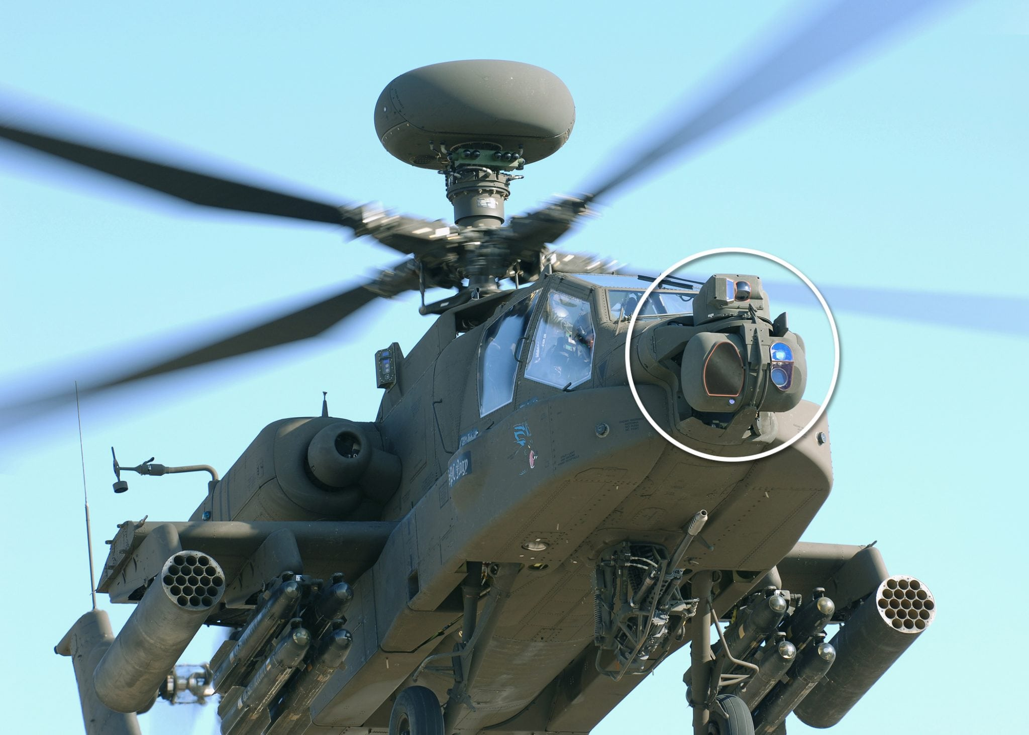The Modernized Target Acquisition Designation Sight/Pilot Night Vision Sensor (M-TADS/PNVS) system, the advanced electro-optical fire control system that AH-64D/E Apache helicopter