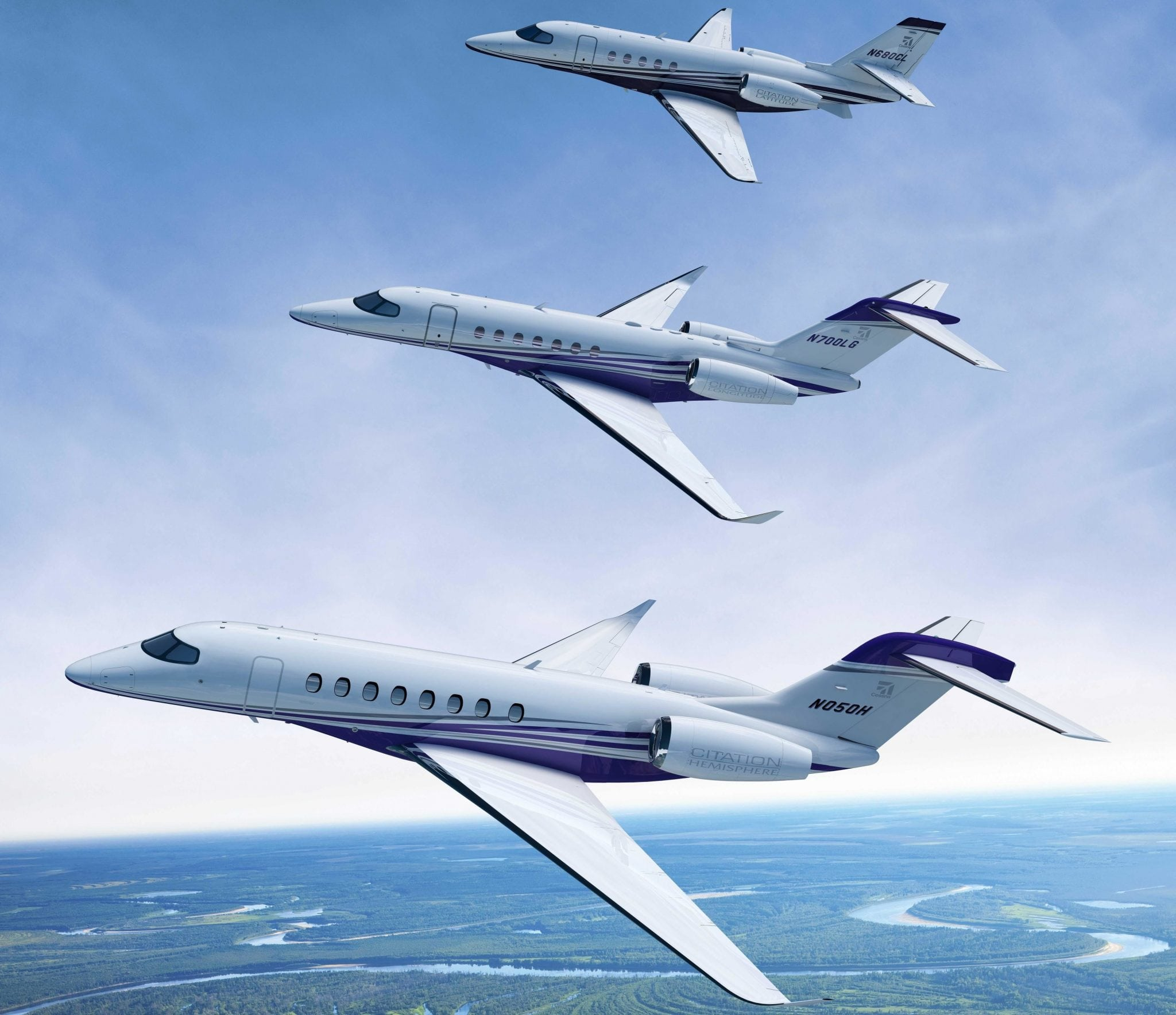 The Longitude and Hemisphere will join the Citation Latitude to complete a new, large-cabin, three-aircraft Citation family