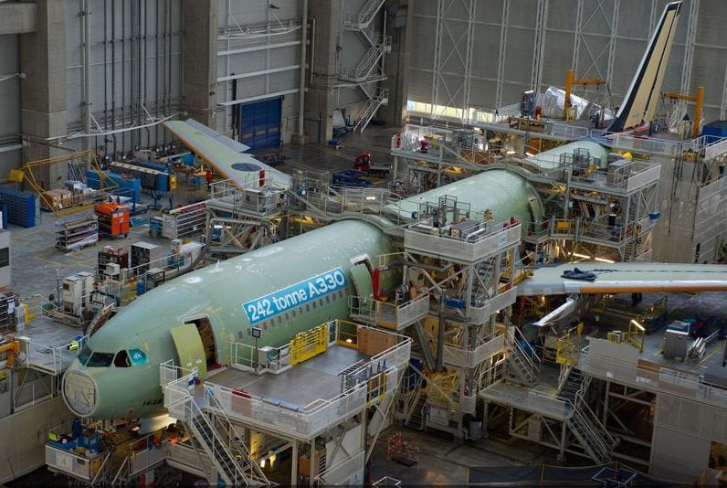 Airbus is raising the production rate of its A330 family from six to seven aircraft a month