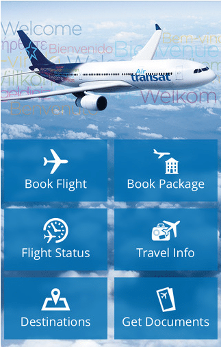 The Air Transat app will enable GEE wireless IFE capabilities