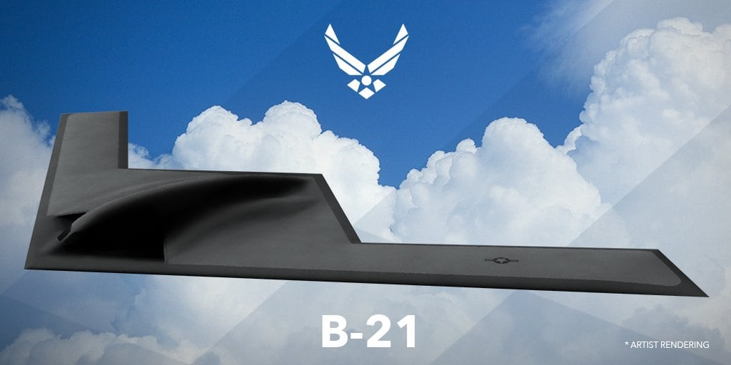 Artist rendering of the new Northrop Grumman-built LSR-B