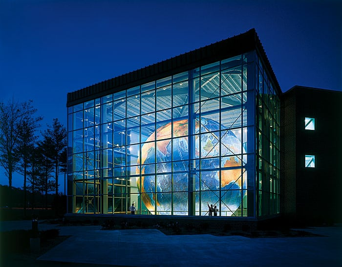 DeLorme headquarters in Yarmouth, Maine. Photo: Jeffrey Stevenson/DeLorme