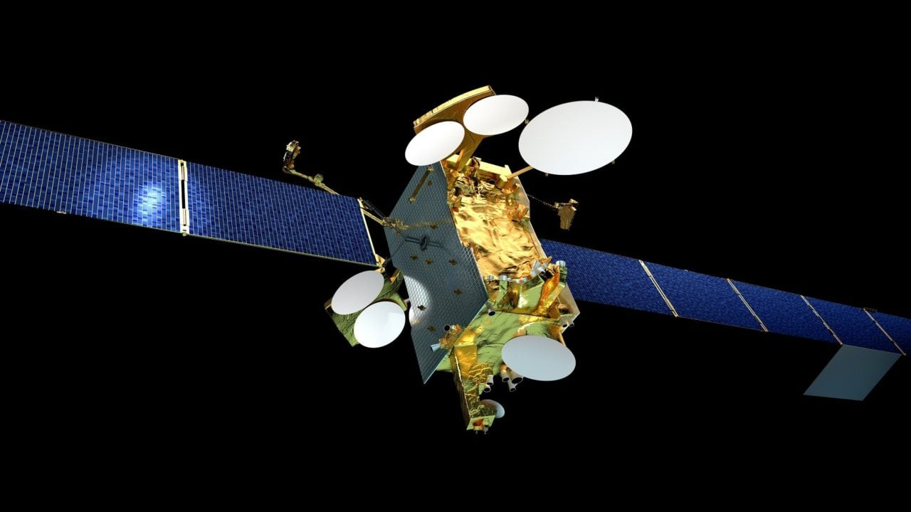 Rendering of the SES 14 satellite for which Panasonic Avionics has contracted capacity to expand its IFC capabilities