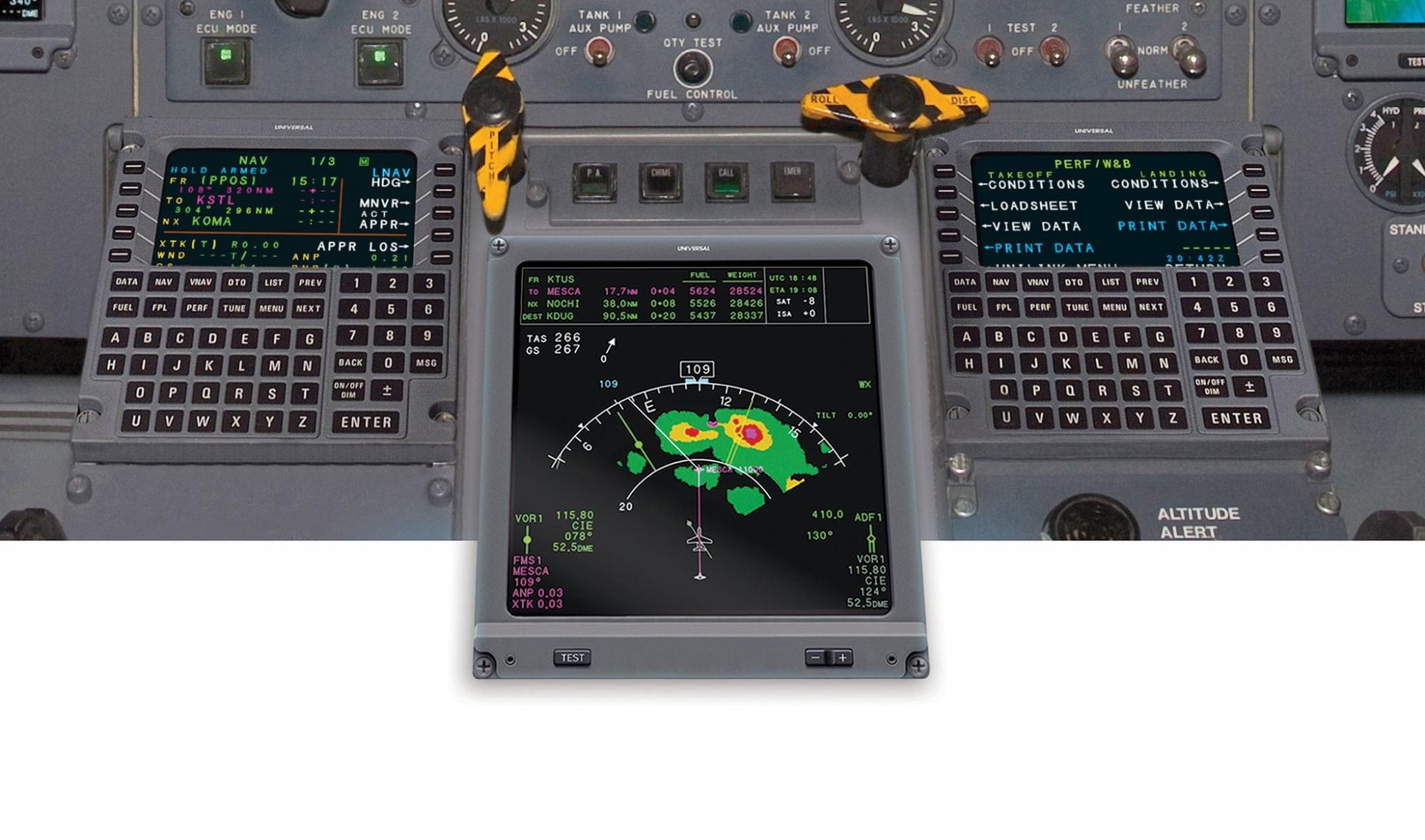 Universal Avionics' MFD-890R Multi-Function Display (MFD) system