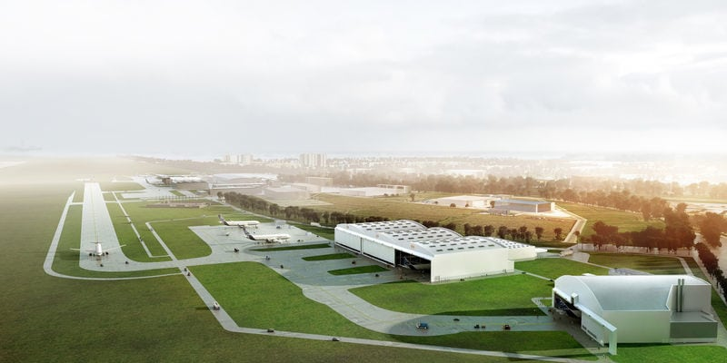 Airbus China A330 Widebody Completion & Delivery Center, rendering