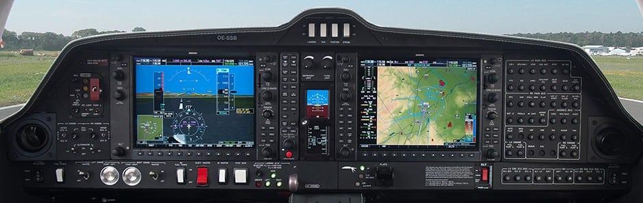 Diamond's DA62 cockpit