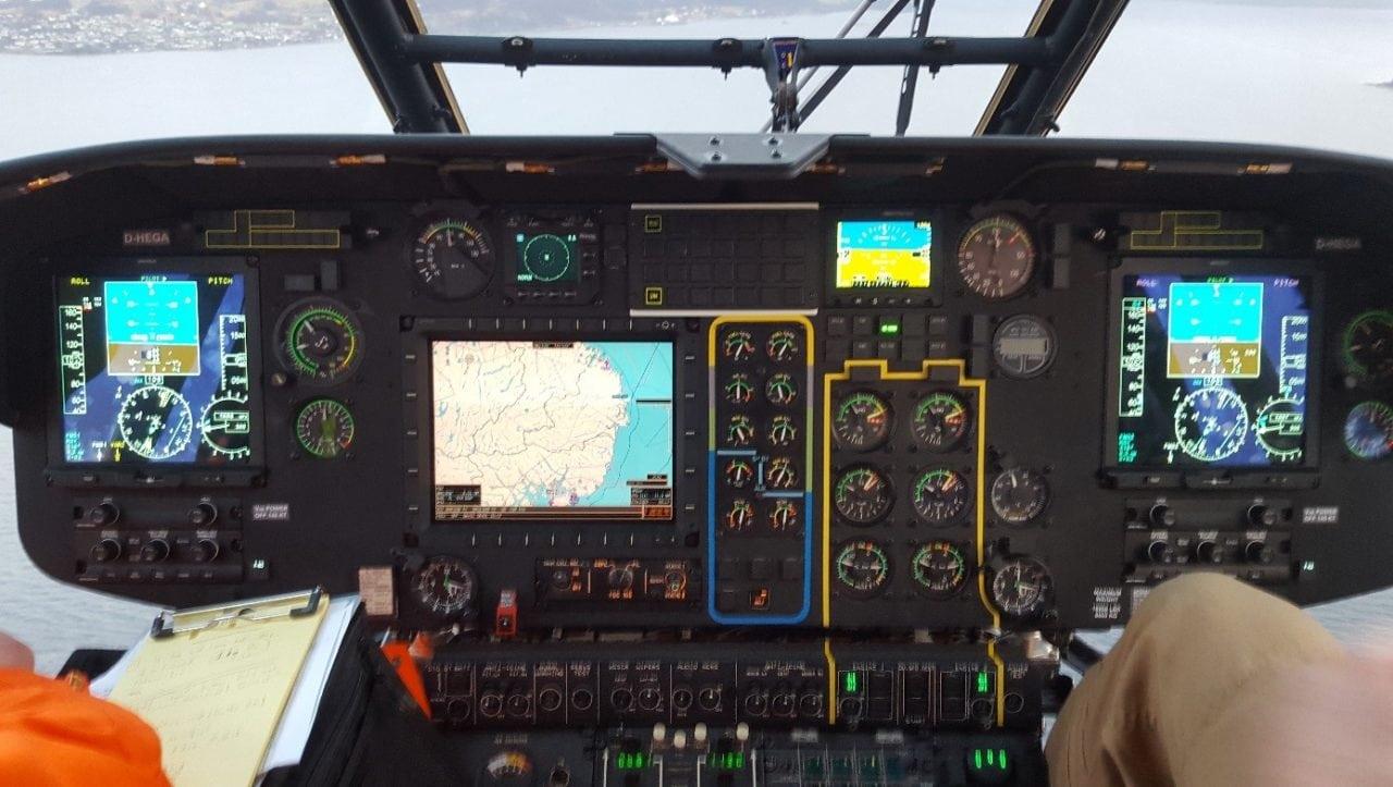 Advanced flight displays in the Heli-One Super Puma