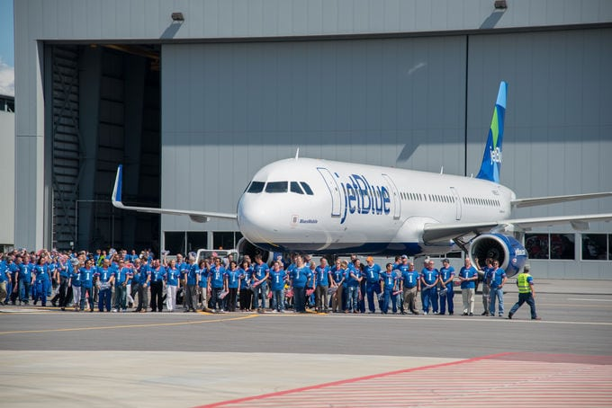 The first US-built aircraft set for delivery to JetBlue