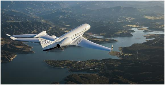 A G650 ER aircraft, one Gulfstream business jet that has seen sales growth in China
