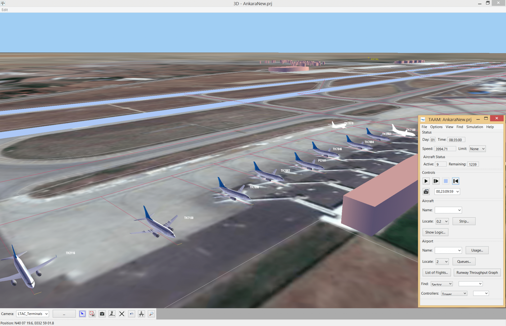 Jeppesen's TAAM airspace and airport simulation software