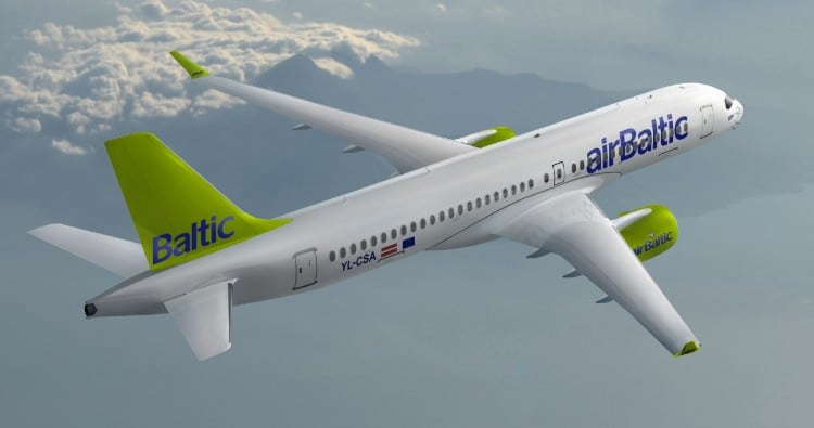airBaltic CS300, rendering
