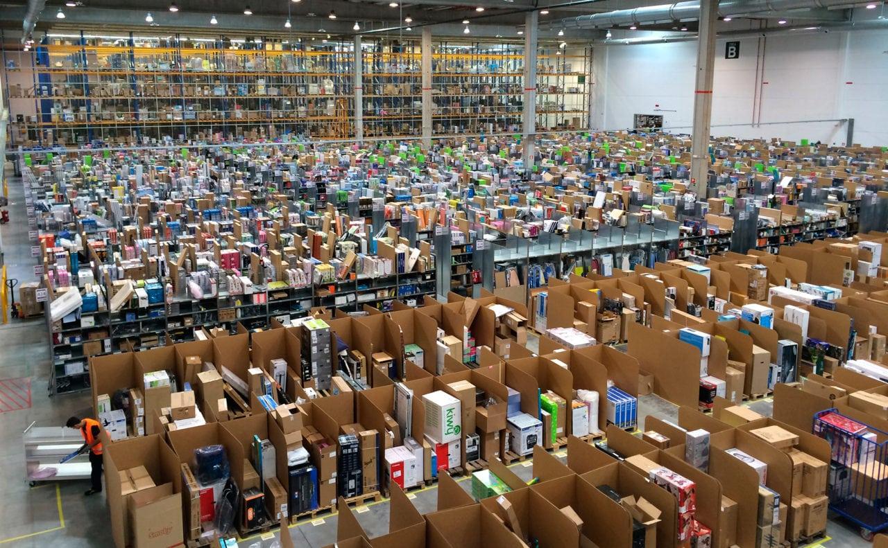 Amazon warehouse.