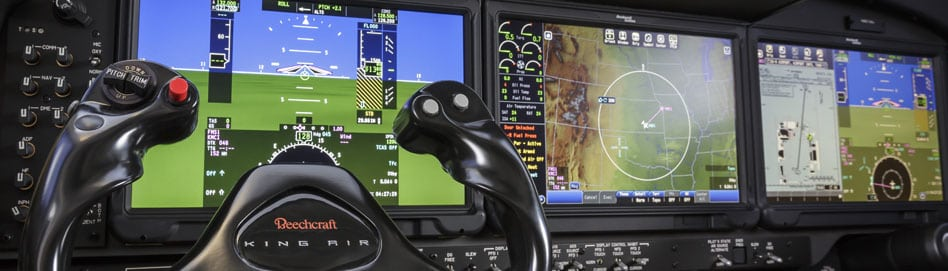 Cockpit of a Pro-Line Fusion equipped Beechcraft King Air