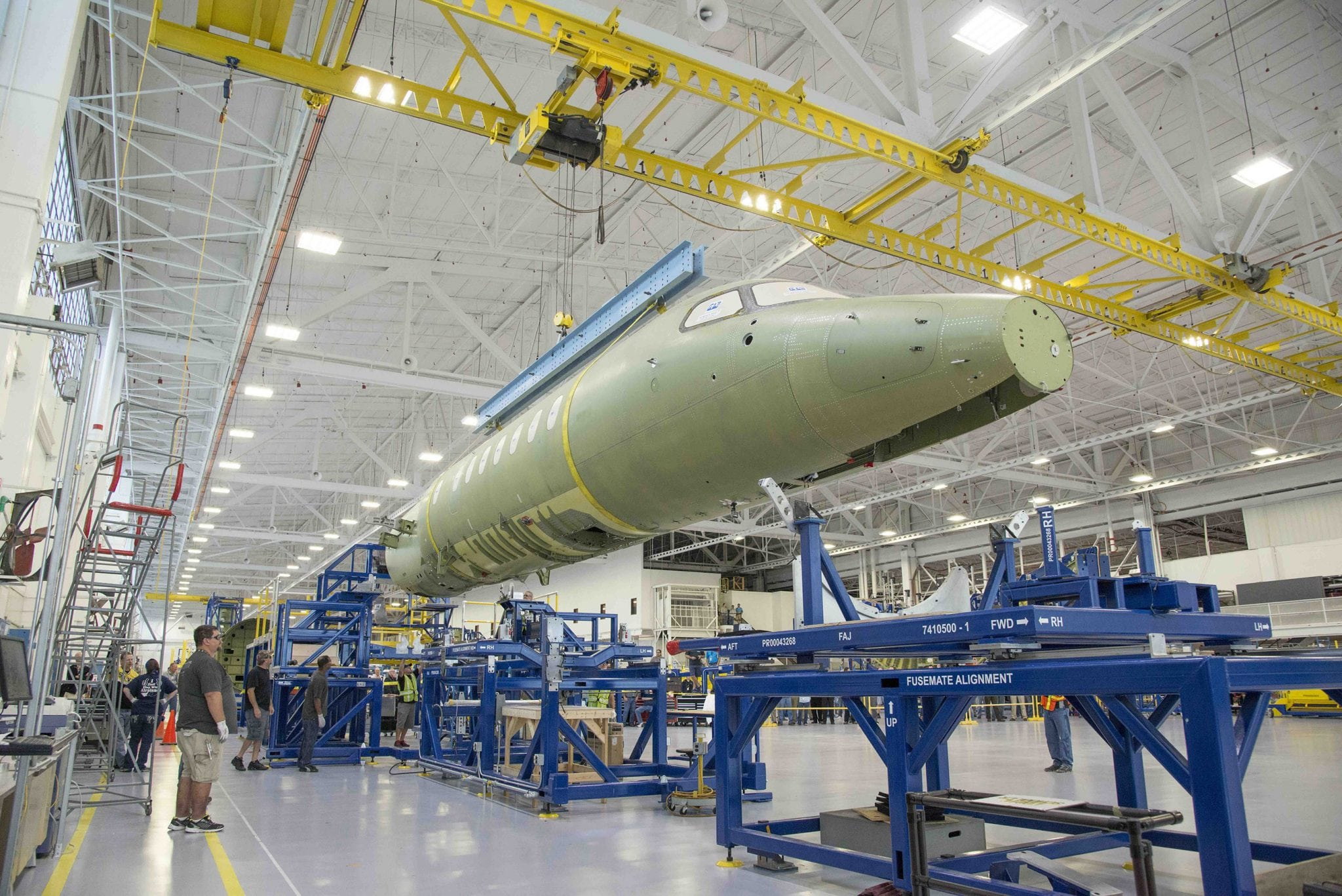 Cessna Citation Longitude mating fuselage and wing