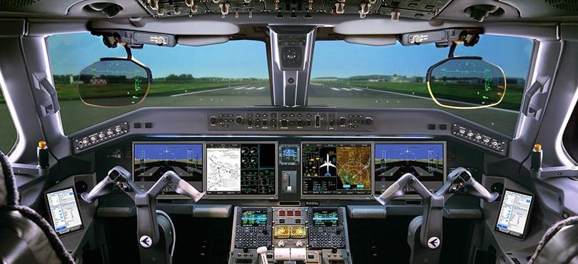 E190 E2 cockpit, rendering