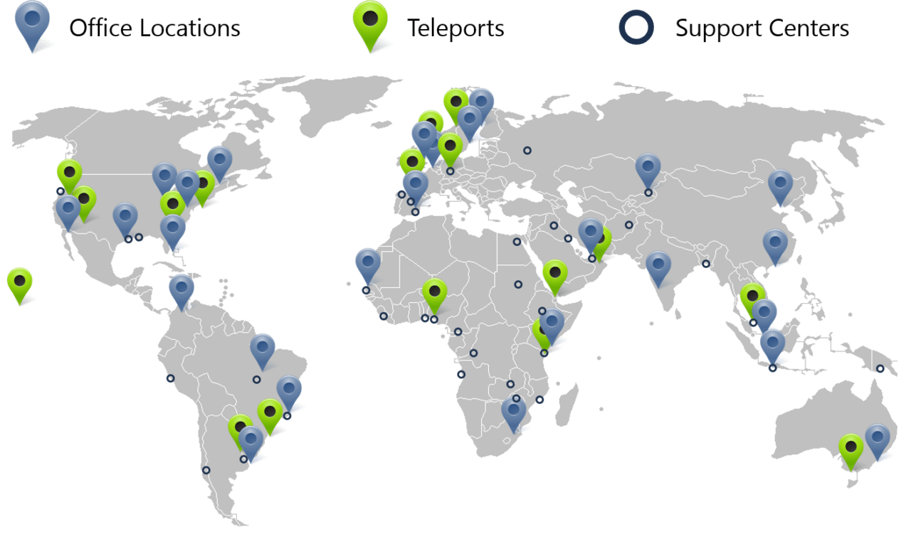 EMC-GEE global connectivity support infrastructure map