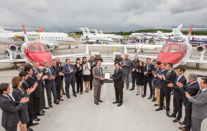 HondaJet receiving a type certificate from the European Aviation Safety Agency on May 23, 2016