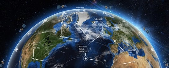 Rendering of Aireon space-based ADS-B system