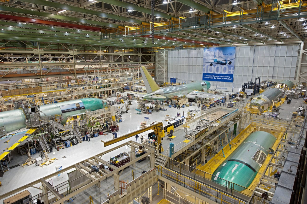 Everett, Wash. facility where Boeing will build the platforms for the now-delayed KC-46 tankers