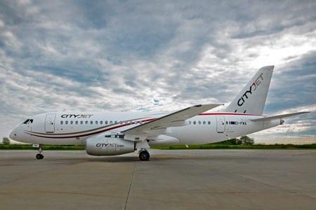CityJet's Sukhoi Superjet 100