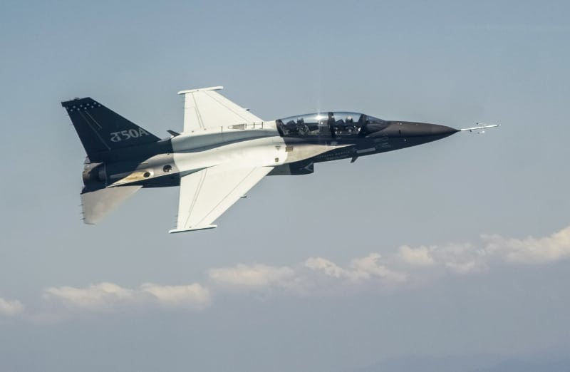 Lockheed Martin T-50A jet trainer takes flight in T-X competition