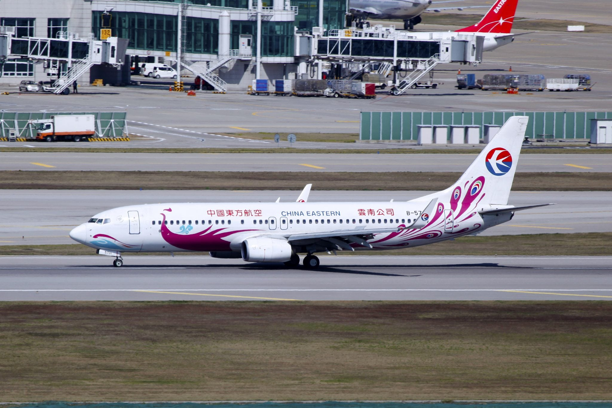 A China Eastern Airlines Boeing 737-89P(WL) at Seoul Incheon International Airport