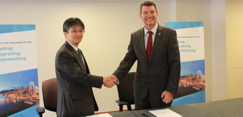 During a ceremony in Vancouver, Canada, NATS Chief Executive Martin Rolfe and Hitoshi Ishizaki, in his role as Director General of JANS, last month signed a Letter of Intent (LoI) for bi-lateral cooperation