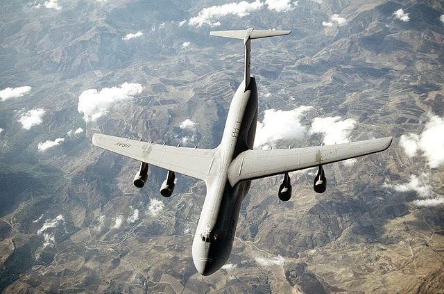 C5 Galaxy aircraft for which USAF is testing UTC's Pulse HMS