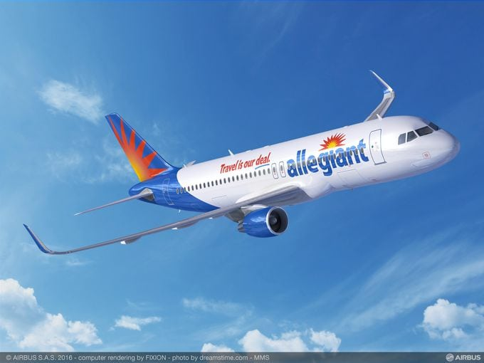 A320ceo with Allegiant livery, rendering