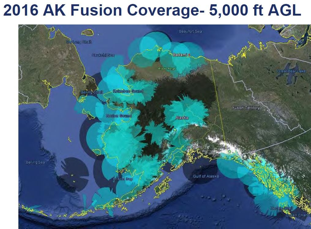 Alaska ADS-B coverage at 5000 ft