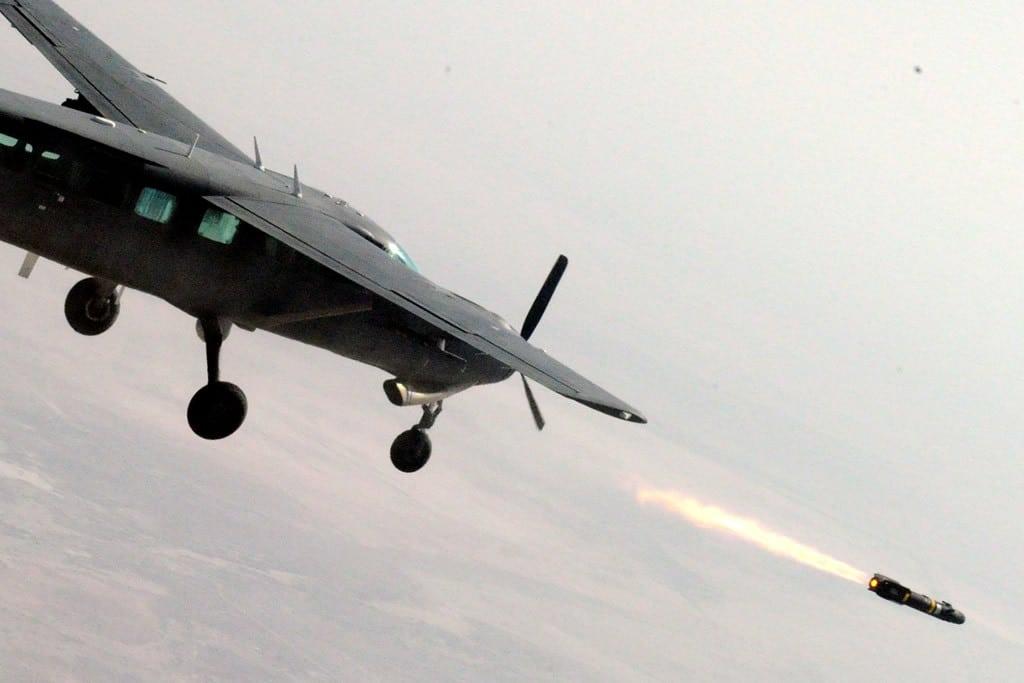 Iraqi Cessna AC-208B Fires Hellfire missile