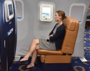 AIA's video booth provides videos with information about NextGen procedures during all phases of flight
