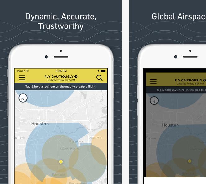 Airmap app on smartphone