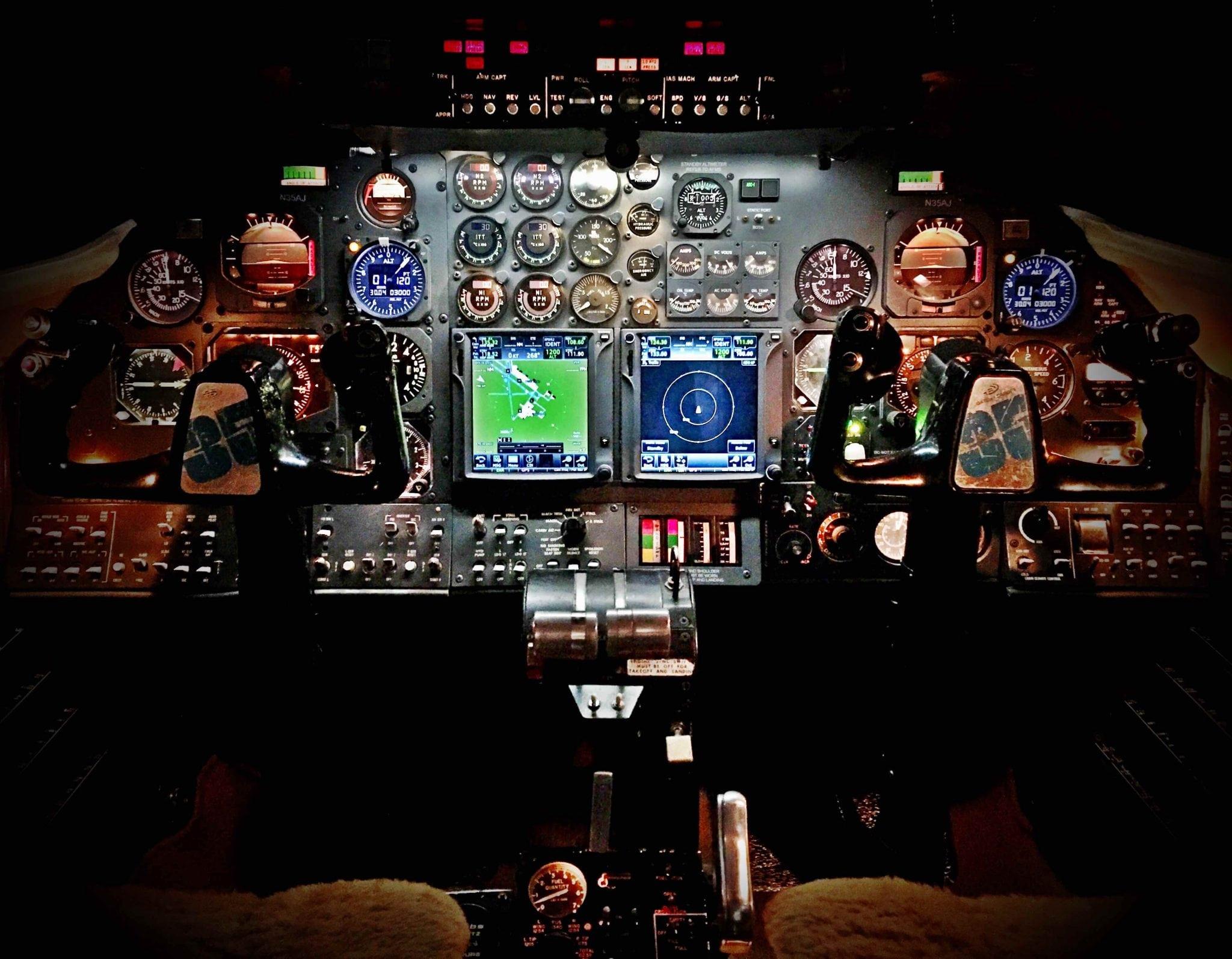 Butler Avionics ADS-B solution in Learjet cockpit