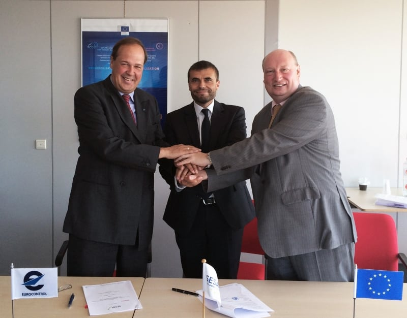 From left: Frank Brenner, director general, Eurocontrol and vice chair of the SESAR JU Administrative Board; Florian Guillermet, executive director, SESAR Joint Undertaking; and Henrik Hololei, director general for Mobility and Transport (DG MOVE), and chair of the SESAR JU Administrative Board