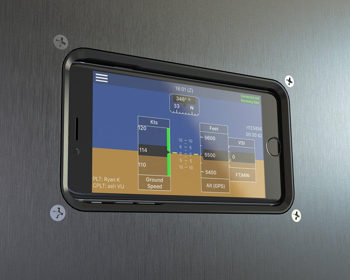 Guardian Avionics iFDR mounted panel
