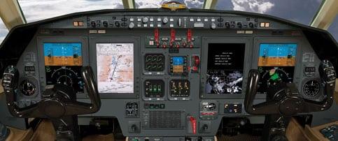 StandardAero Falcon 50EX Pro Line Fusion 21-equipped cockpit