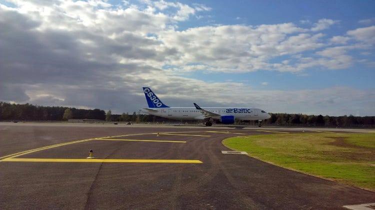 airBaltic Bombardier CS300 aircraft