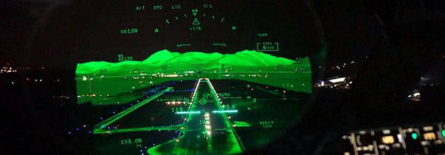 Dassault Falcon Eye combined vision system