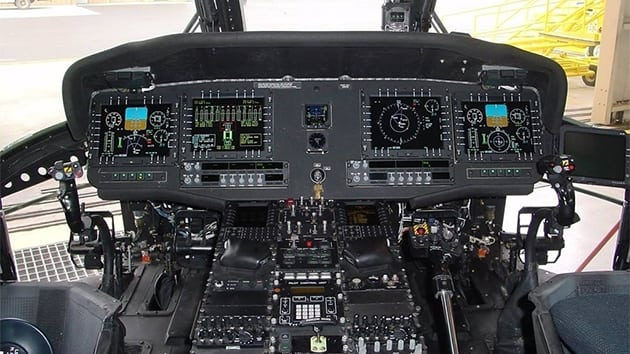 The UH-60M Black Hawk's MFD-268C4 provides multiple video interfaces, as well as advanced graphic engines, safety critical processing and Active Matrix LCD technologies
