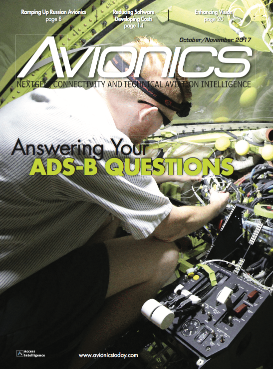 Avionics October/November 2017 Cover