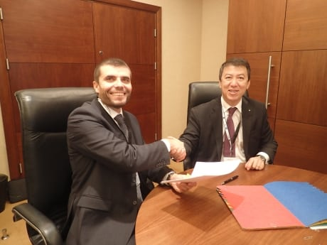 EASA Executive Director Patrick Ky and SJU Executive Director Florian Guillermet signing the new SESAR MoC