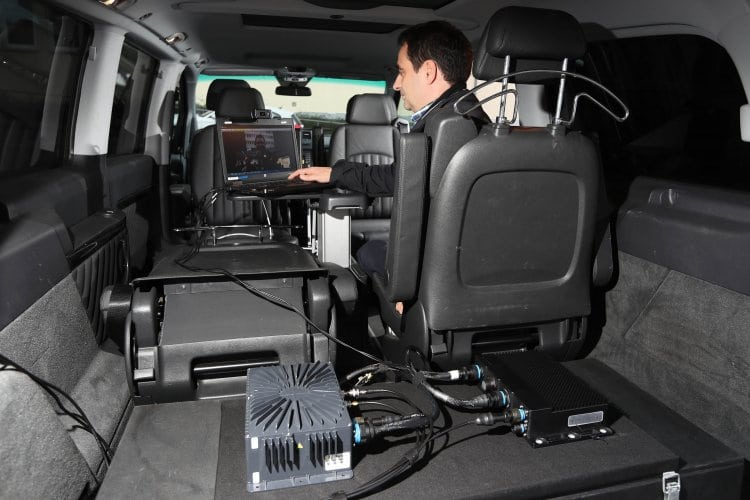 European Aviation Network testing at Nokia Stuttgart with onboard equipment