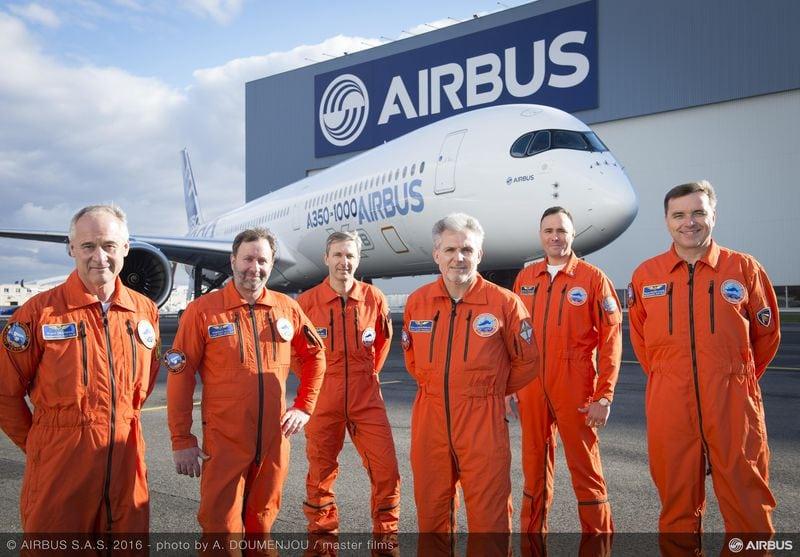First A350-1000 test flight crew