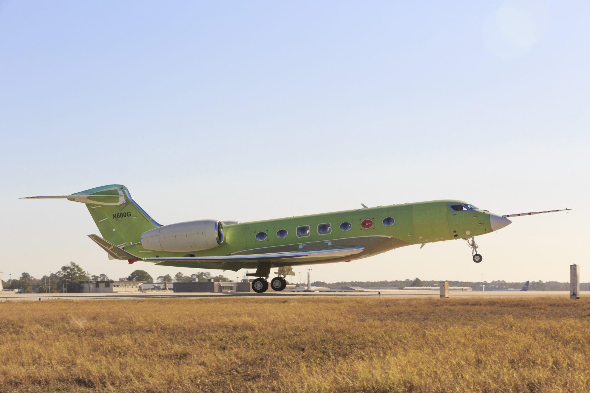 The first flight of the Gulfstream G600 test aircraft. Photo: Gulfstream