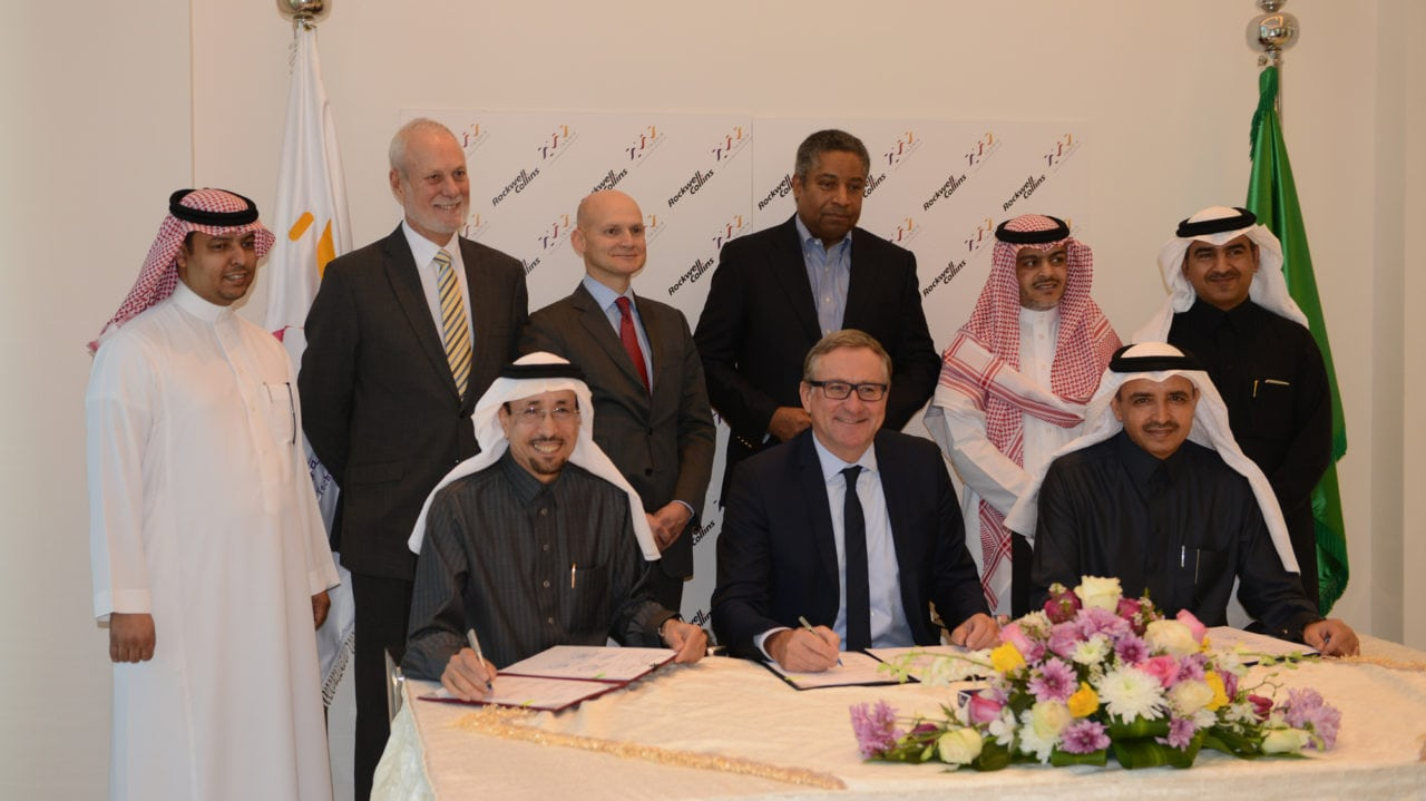 Rockwell Collins signed an agreement with Taqnia Aeronautics and defense and security technology Taqnia subsidiaries, to collaborate on military rotary and fixed wing avionics opportunities in the Kingdom of Saudi Arabia. Photo: Rockwell Collins