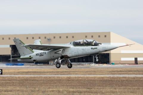 Textron's Scorpion jet making its first flight