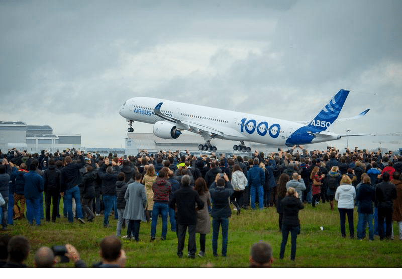 Airbus A350-100 first flight. Photo: Airbus.
