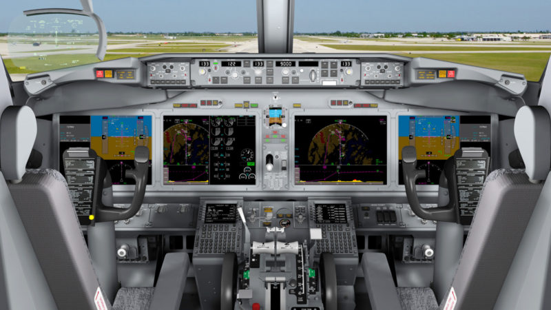 737 MAX Flight Deck. Photo: Boeing.